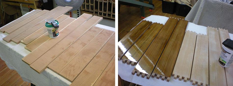 Applying filler, Applying 1st coat of marine-grade epoxy
