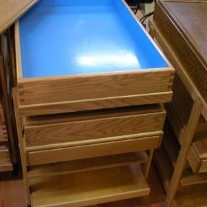 oak sandtrays hand made in Canada form reclaimed wood for sand play therapy