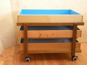 model C with three trays