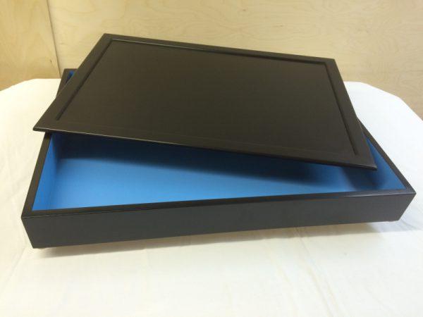 three coats of satin acrylic enamel